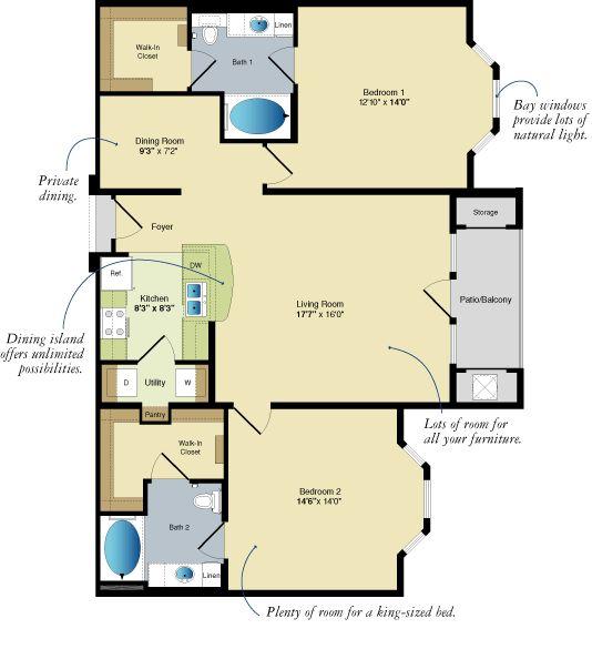 Two Bedroom Luxury Apartments