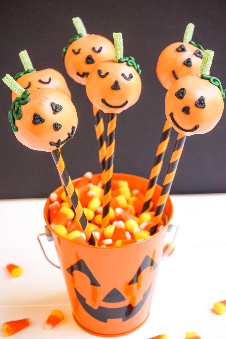 Jack O Lantern Cake Pops