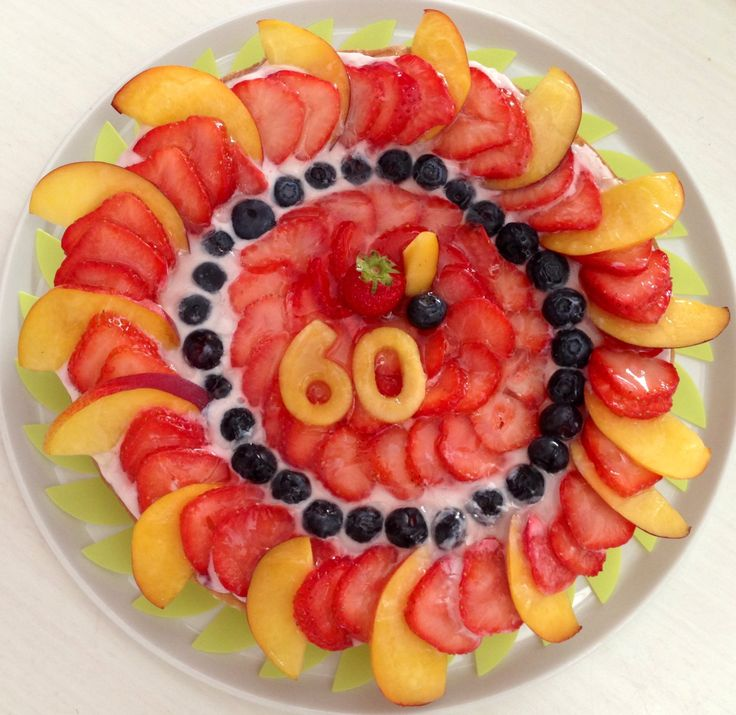 Fruity 60th Birthday cake