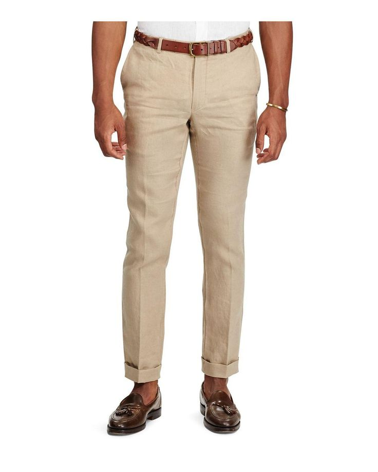Polo Ralph Lauren | Natural Slim Fit Linen Pants for Men | Lyst