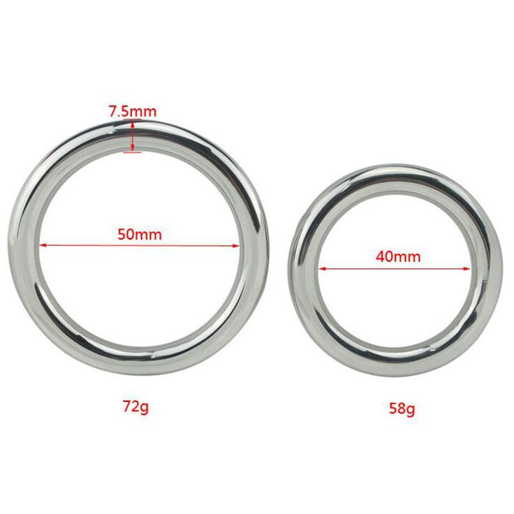 Stainless Steel Ring Penis Cock Impotence, Erection Aid, Male Chastity Device