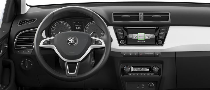 The new Fabia is the first ŠKODA to feature #MirrorLink technology. It allows smartphone apps to be displayed on the screen of the infotainment system, great for navigation software or music! Simply Clever. http://www.skoda-auto.com/en/models/new-fabia/