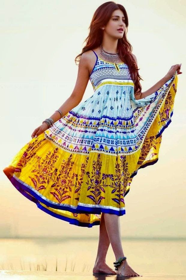 Colourful Dresses also work!  Find a print that works for you and WORK IT