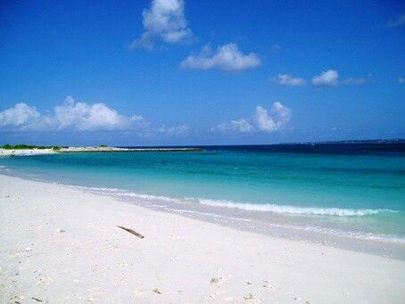 沖縄の水納島☀🌴🐚🐠 空と海が同じ色してて大きな魚もたくさん泳いでるの🐳🐠🐡🐙