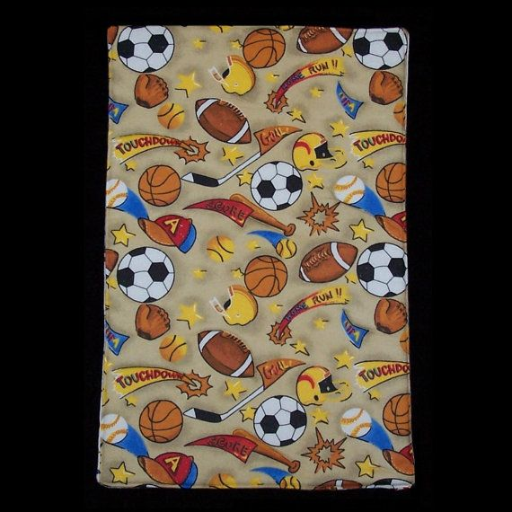 Sports Score Burp Cloth BC053 by LittleHeartsHome on Etsy