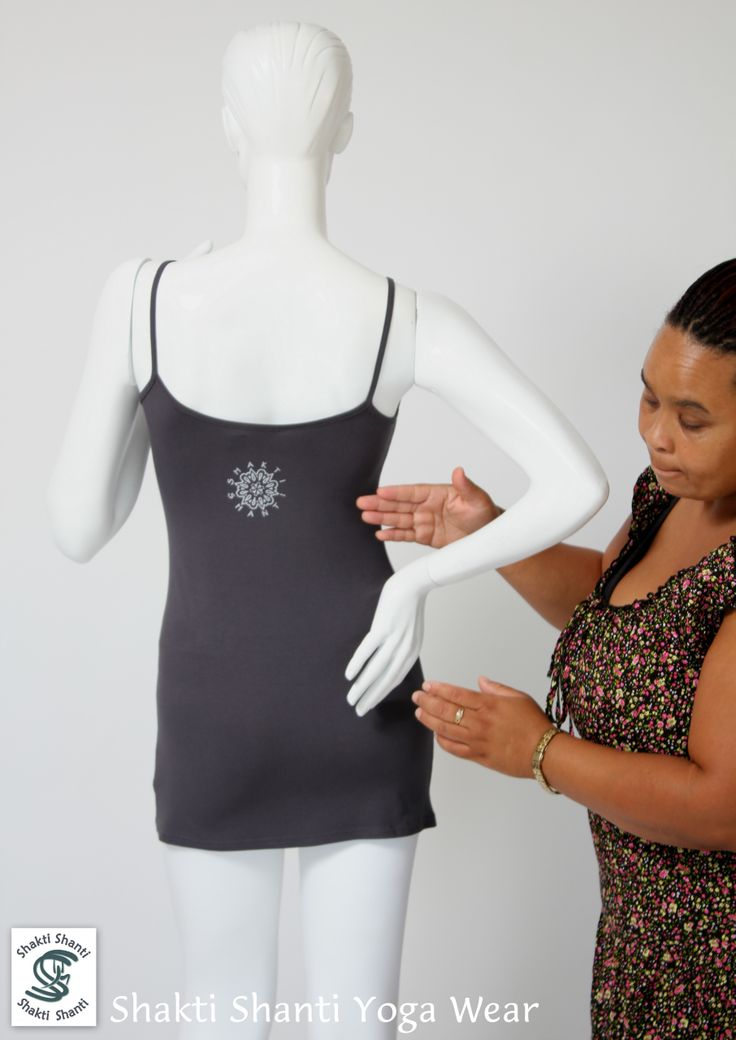 new charcoal viscose vest TS068 with silver print