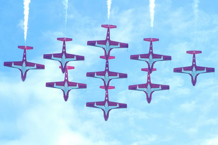 The Canadian Snowbirds Photograph by Mark Andrew Thomas