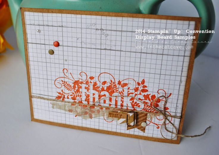 Convention Display Boards | thanks by Cathy Caines @stampinup