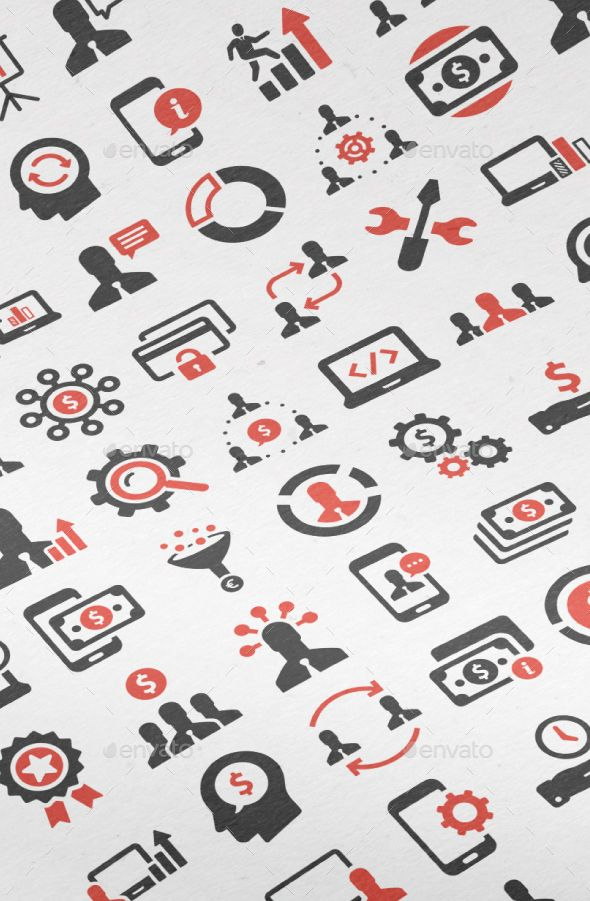 200 Business Icons #design Download: http://graphicriver.net/item/200-business-icons/13466434?ref=ksioks