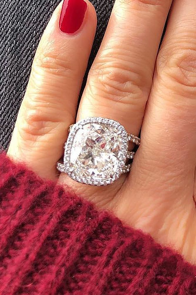 30 Incredibly Beautiful Diamond Engagement Rings ❤️ diamond engagement rings halo cushion cut pave band modern ❤️ More on the blog: https://ohsoperfectproposal.com/diamond-engagement-rings/