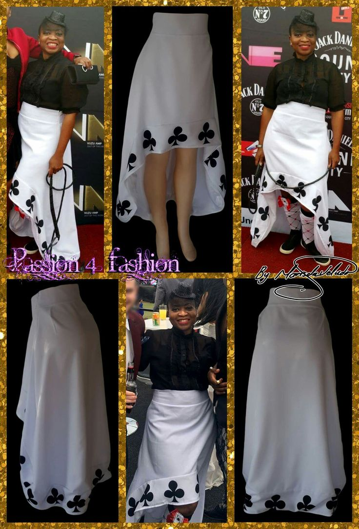 White hi lo costume skirt with a printed club border for the Durban July #mariselaveludo #fashion #hiloskirt #whitecostumeskirt #durbanjuly #passion4fashion