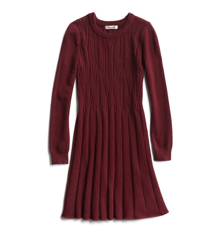 Winter Stylist picks: Burgundy sweater dress