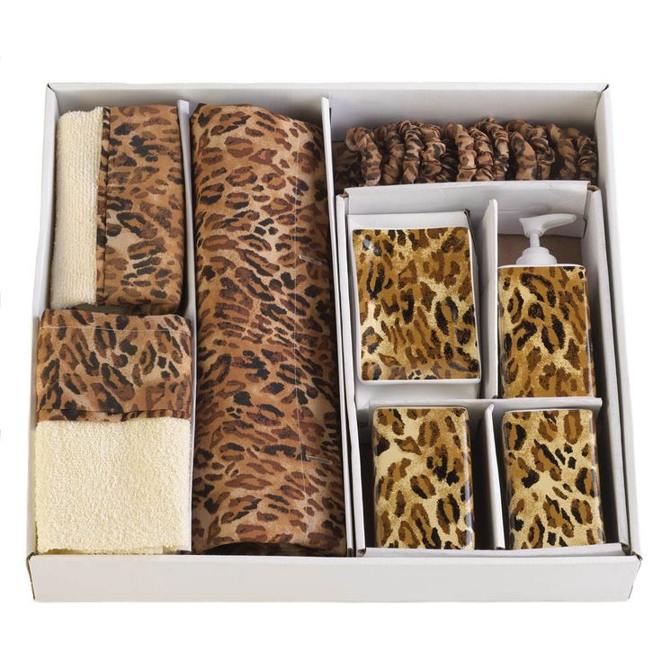 Leopard Bathroom Decor Ensemble Set