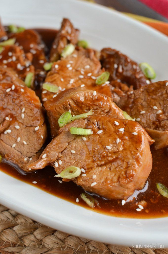 Instant Pot Teriyaki Pork Tenderloin - this may just be my new favourite recipe. A great easy family recipe at only 3 syns per serving.