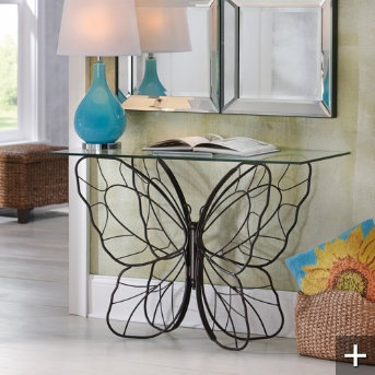 Danita: Monarch Butterfly Console Table
