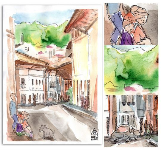 Una entretenida mañana de sábado junto a Urban Sketchers Quito, esta vez con la colaboración del Museo de Acuarela Muñoz Mariño.  #sketch #uio #quito #urbansketchers #acuarela