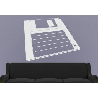 Наклейка для дома от 2stick.ru Рисунок дискеты в негативе