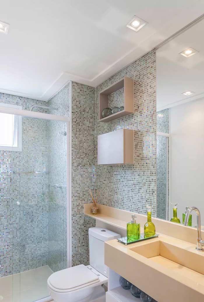 Banheiro com sanca invertida
