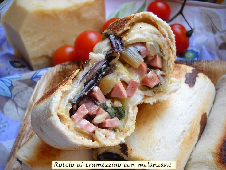 Rotolo+di+tramezzino+con+melanzane