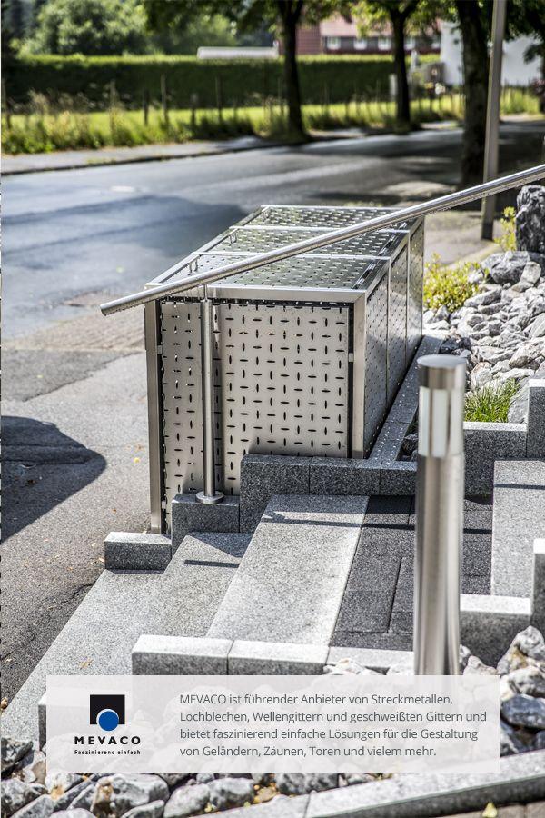 Die Edelstahl-Müllboxen werten jede Wohnanlage auf und sorgen für ein gepflegtes Außenbild. Sie werden aus dem MEVACO Lochblech Creativ Line hergestellt. Mehr unter http://www.mevaco.de/fascination-47 #MEVACO #Lochblech #Edelstahl #Creativ-Line-Ellipse #FaszinationNo47