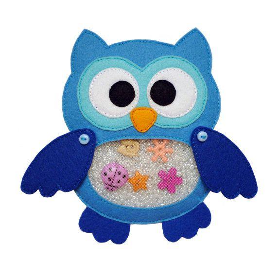 I Spy Bag OWL  Eye Spy Bag  Busy Bag  Sensory Toy  Quiet by 2mano
