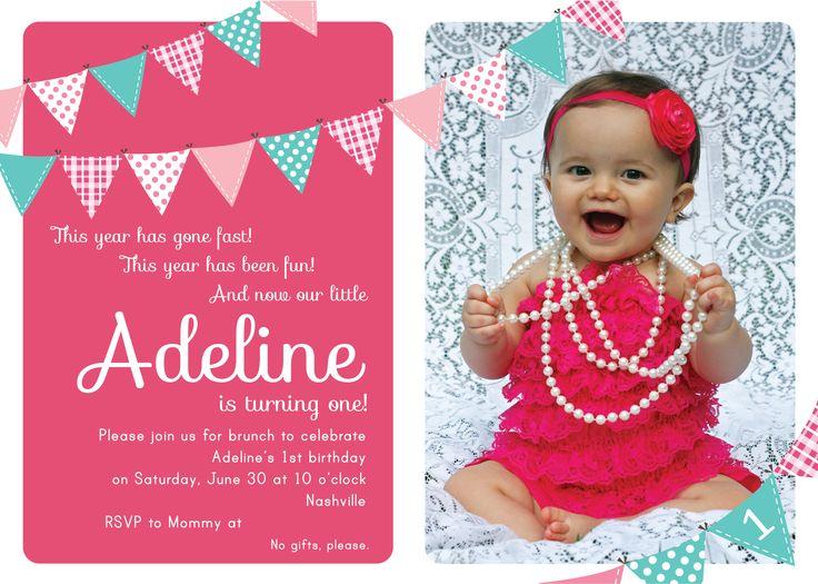 Best Indiannas St Birthday Images On Pinterest Birthday - First birthday invitation card background