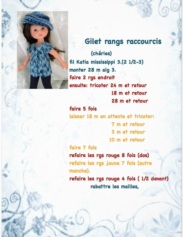 Gilet Rangs raccourcis #poupée