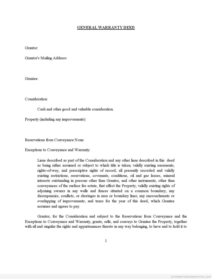 Sample Deed Of Trust Form Printable Sample Satisfaction Of Deed Of