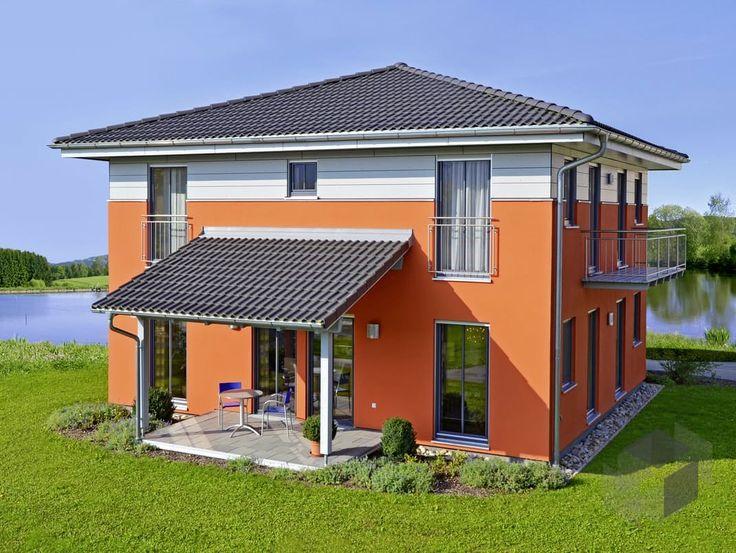 Moderne häuser zeltdach  Die Stadtvilla Haas MH Falkenberg 150 von Haas-Fertigbau hat eine ...