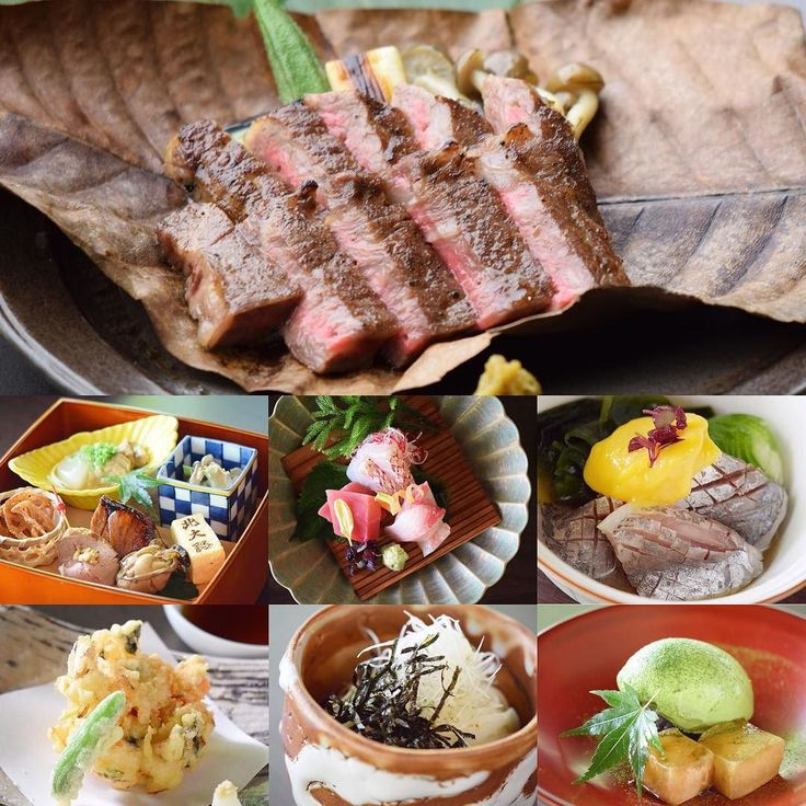 [ Wagyu beef Hoba grill course ]  1.Assortment of appetizers  2.Sashimi (Sliced fresh fish)  3.Wagyu Beef steak served with vegetables and signature miso sauce  4.Marinated Horse Mackerel with egg yolk vinegar  5.Shrimp and Onion Kakiage  6.Cold Inaniwa Udon Noodle  7.Todays dessert  黒毛和牛朴葉焼きコース  前菜	四季の前菜盛り合わせ  お造り	鮮魚のお造り  焼き物	黒毛和牛朴葉焼き  小鉢	鯵酢の物黄身酢  揚げ物 海老と玉葱のかき揚げ  お食事 冷やし稲庭うどん  水菓子	本日のデザート
