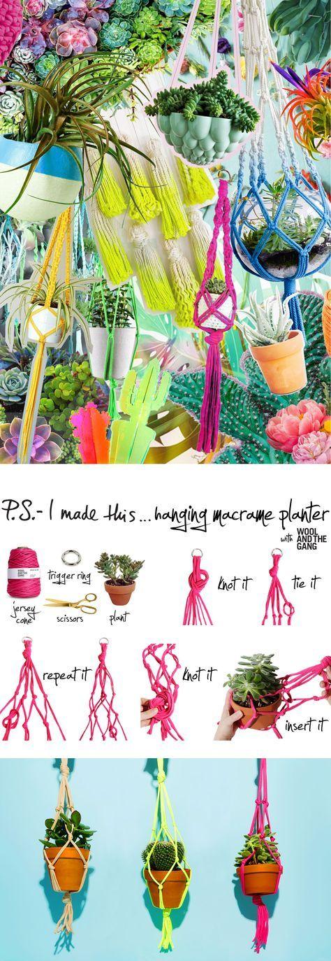 P.S.- I made this...Hanging Macrame Planter with @WoolandTheGang #PSIMADETHIS #DIY