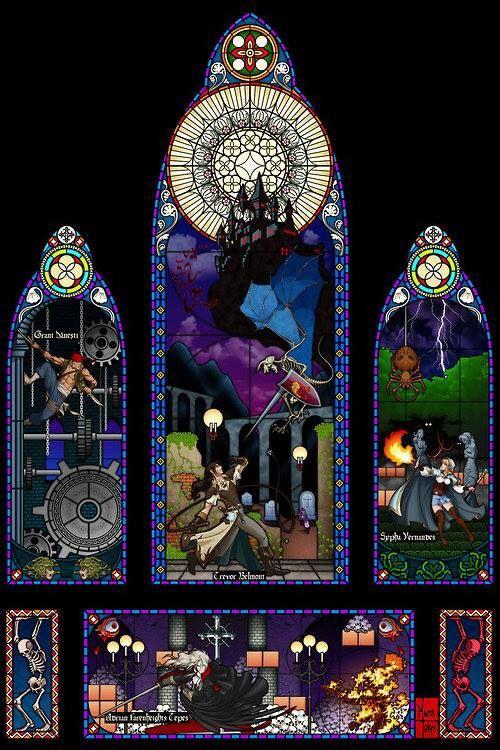 Amazing Castlevania 3 stainglass