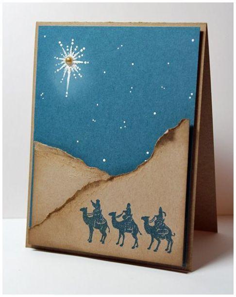 Как сделать разворот открытки объемным на рождество