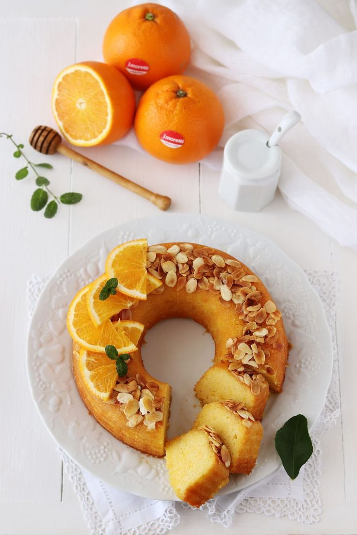 Gâteau couronne à l'orange, miel et amande -Ciambella all'arancia con mandorle e miele