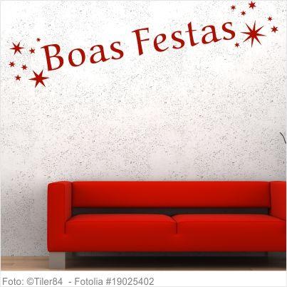 Wandtattoo - Frohe Weihnachten Portugiesisch