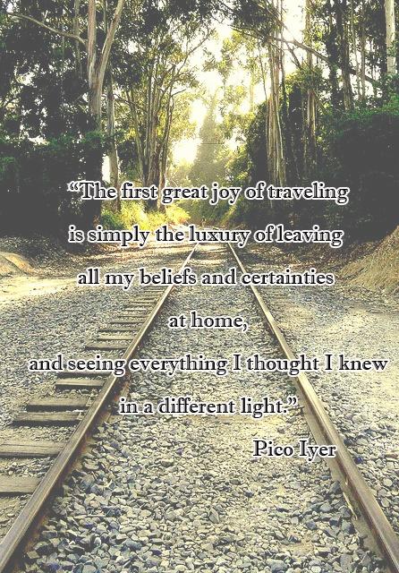 The great joy of traveling... Original photo: Flikr Dawn IV menos clara