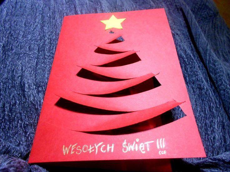 [PAKOWANIE PREZENTÓW] Efektowna kartka świąteczna ze zwykłej tekturki. Koszt? 0 zł!