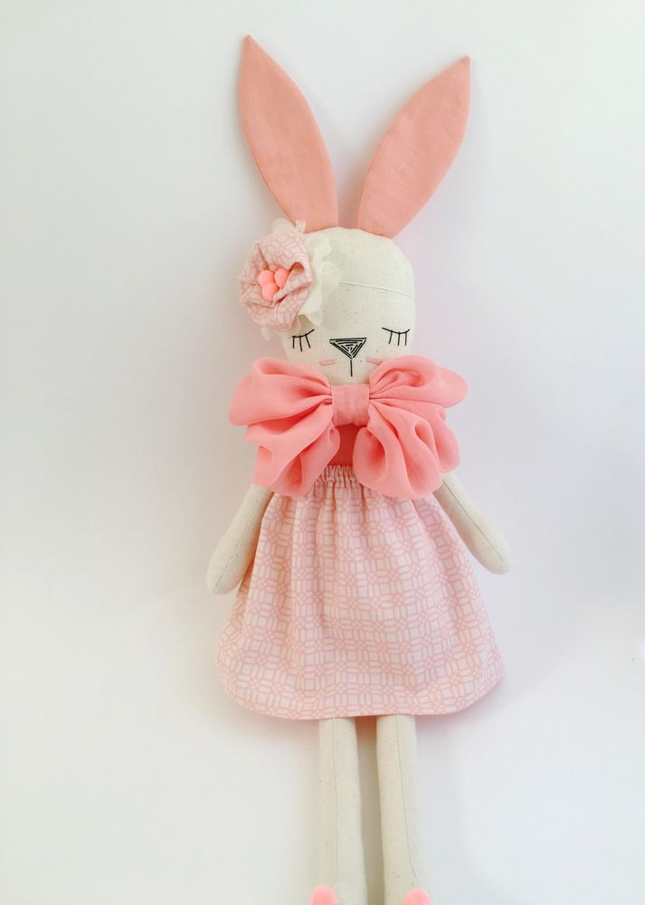 Little Peach Bright Coral Bunny
