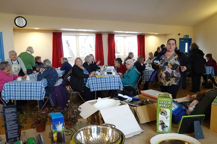 Enjoying a cream tea and a blether                   24th October