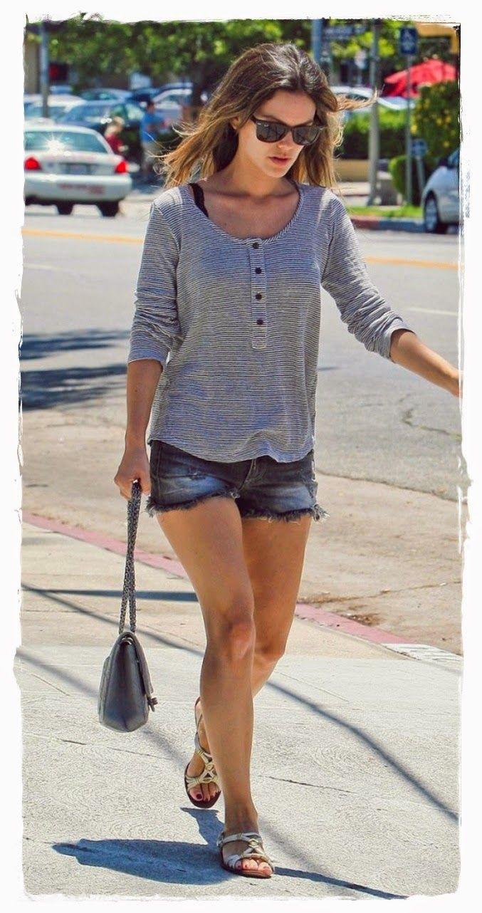 #Rachel #Bilson #Denim #Shorts Street Snapshot 05