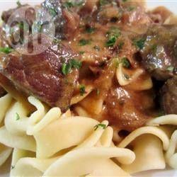 Photo de recette : Le bœuf Stroganoff à Diane