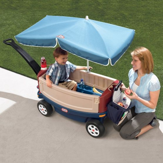 Little Tikes Ride & Relax with Umbrella Kids Wagon