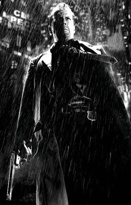 Sin City, I forgot how gritty this movie is and I fucking love it, and Bruce Willis. That voice. Mmm