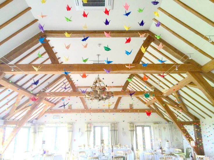 According to a Japanese tradition - 1000 origami paper cranes is believed to grant the bride & groom a strong and happy marriage