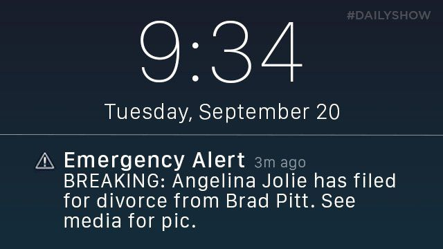 NYC really abusing the emergency cellphone alert right now 🔥💥🙈 📷 The Daily Show #Brangelina #Epic #BIZBoost
