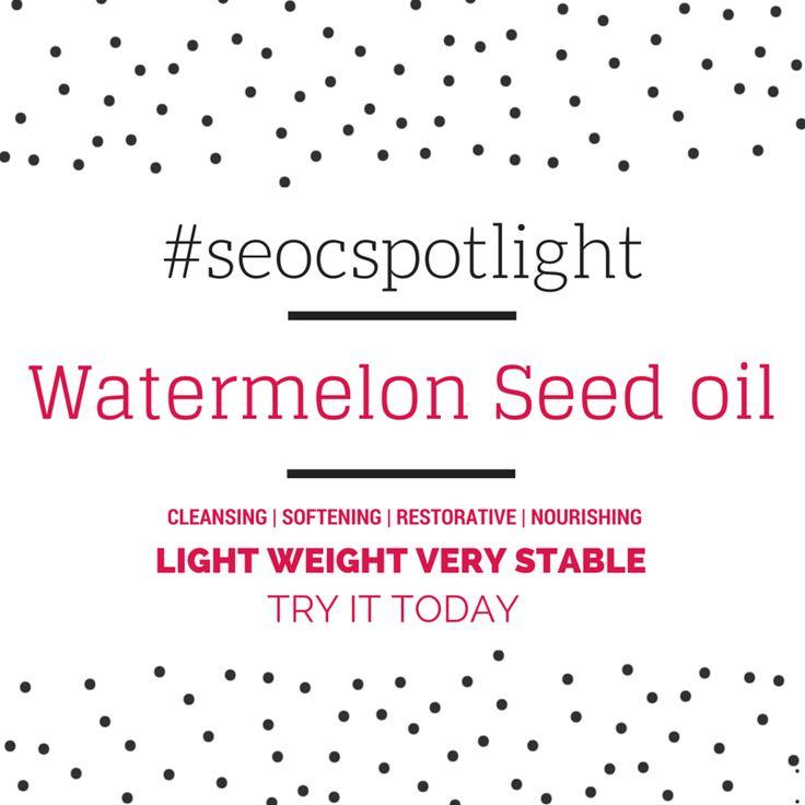 #SEOCSpotlight | Watermelon Seed Refined oil | New Carrier oil | Order online at www.seoc.com.au