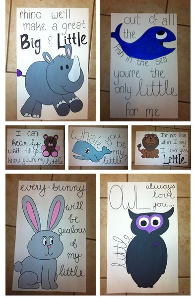 big little crafts! I love the whales :) but of course the owl holds a special place in my heart!! I'm also a huge fan of cheesy animal puns, so this is basically perfection.