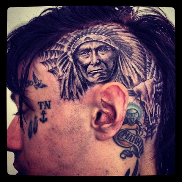 Check Out Trace Cyrus' New Head Tattoo!