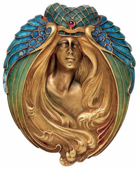 Marcel Bing ~ Art Nouveau brooch | JV