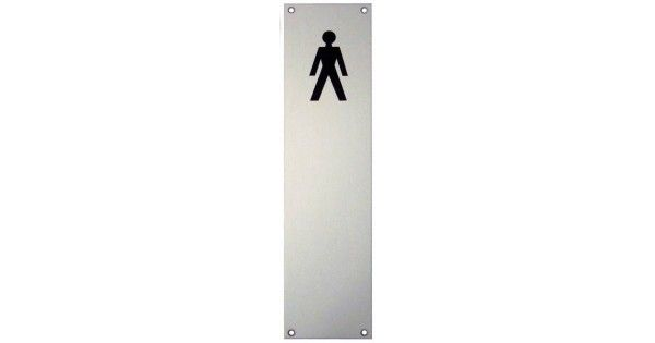 Buy Male Toilet Symbol on Door Push Plate | LocksOnline.com